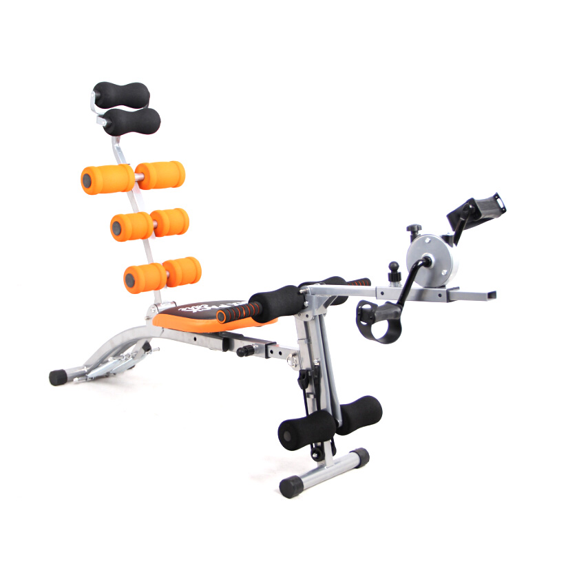 Six power gym with mini cycle