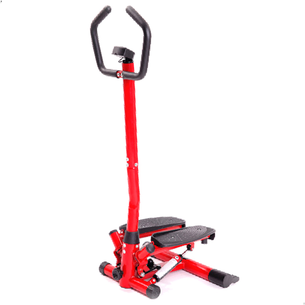 fitness stepper with handrail